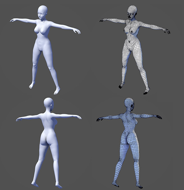 NextGen Game Female Base Model