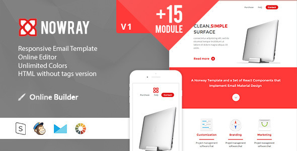 Norway Modern Email Template Online Access