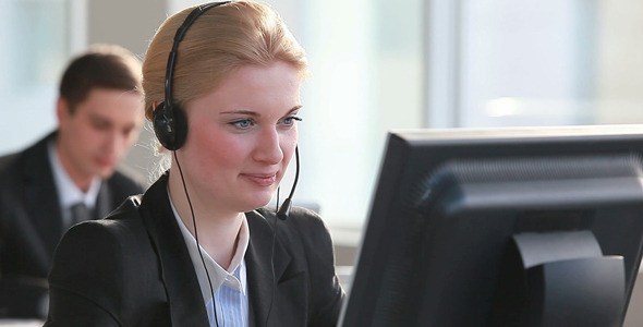 Online customer support representative