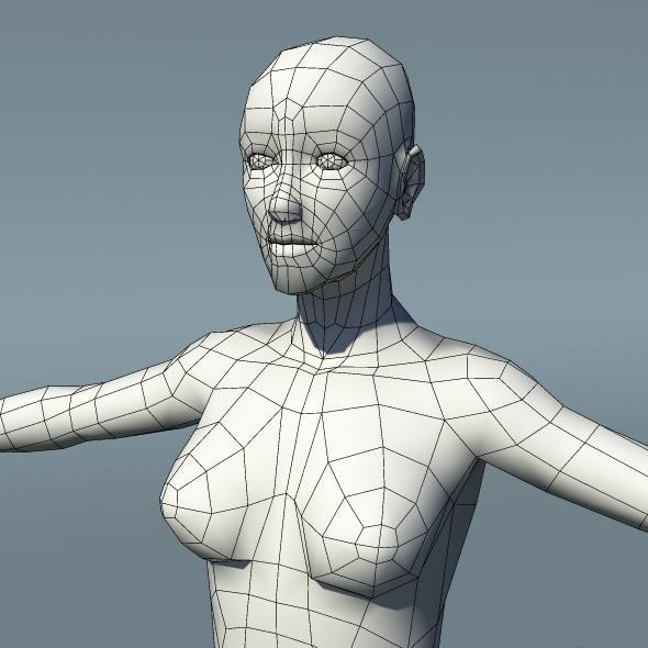 Optimized Low Poly Human Female Base Mesh Ver1.0