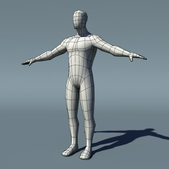 Optimized Low Poly Male Human Base Mesh Version1.1