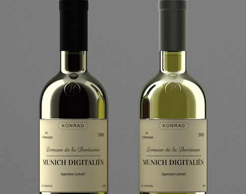 Photoreal Wine Bottles