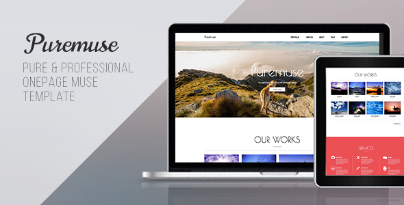 Puremuse One Page Muse Template