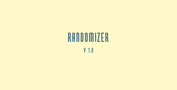 Randomizer v1.0