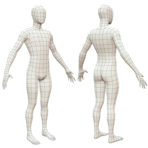 Realistic Adult Male Base Mesh