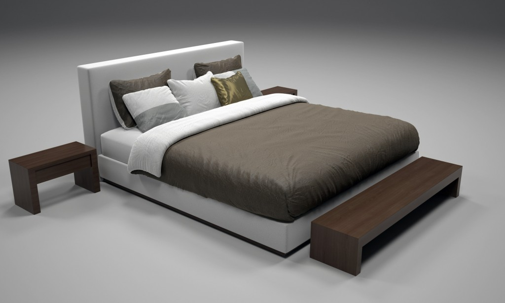 Realistic Bed Model with Materials 2