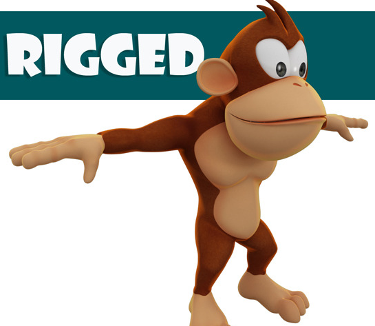 Rigged Monkey Model