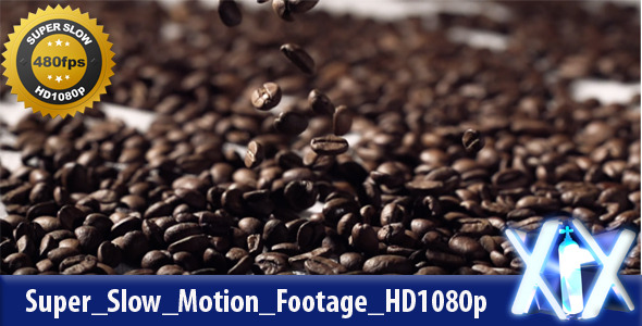 Roasted Coffee Beans 480fps
