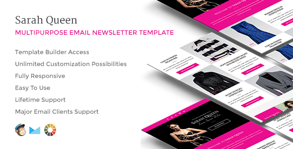 SarahQueen Responsive Email w Builder Access
