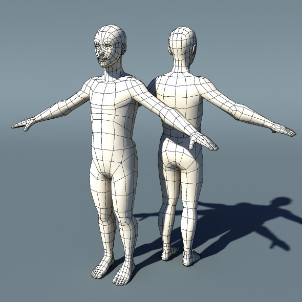 Teenage Boy Basemesh V1.1