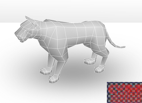 Tiger Low Poly