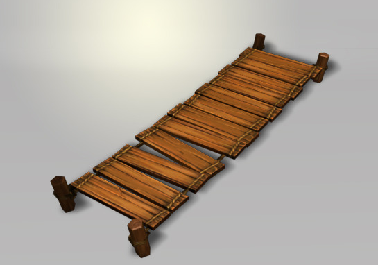 Wood Bright Low Poly