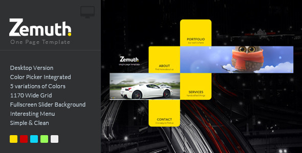 Zemuth One Page Template