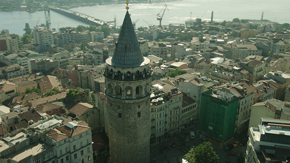 Aerial View of Galata Tower Istanbul 2