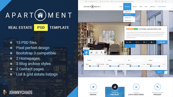 Apartment Premium Real Estate PSD Template