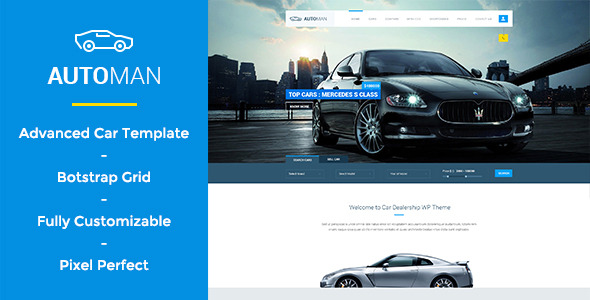 Automan Advanced Car Dealer PSD Template