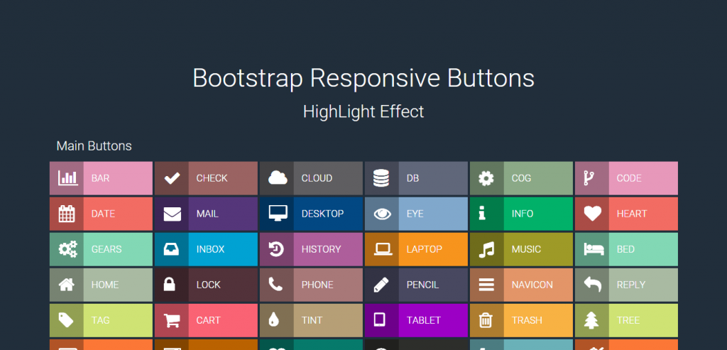 Bootstrap Responsive Button