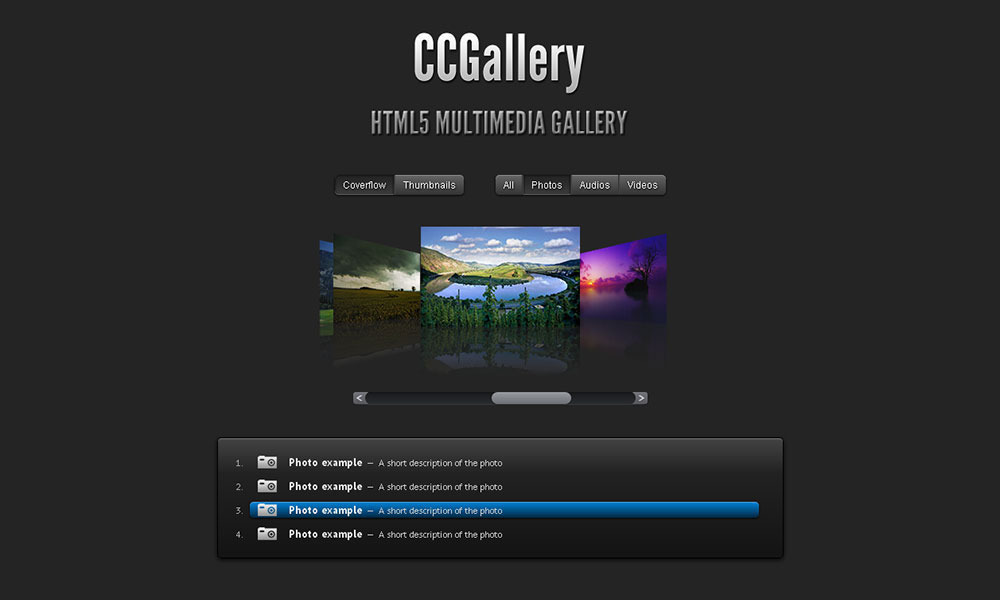 CCGallery WP Multimedia Gallery WordPress Plugin