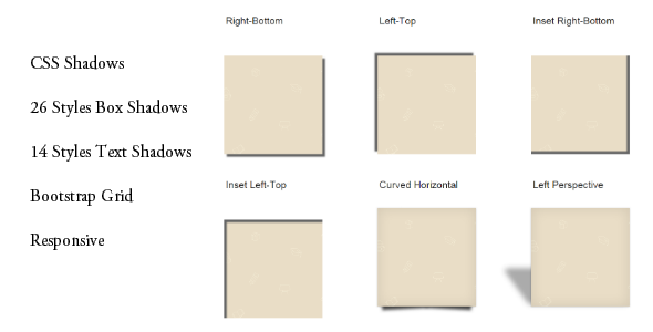 CSS Box and Text Shadows