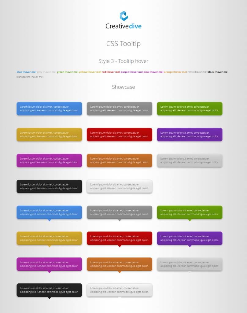 CSS Tooltip with CSS3 Animation