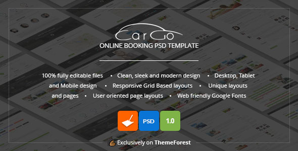 CarGo Online Booking PSD Template