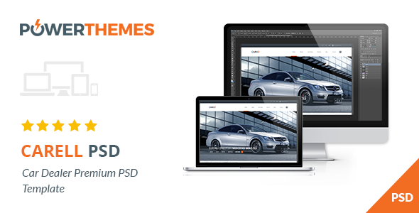 Carell Premium Car Dealership PSD Template