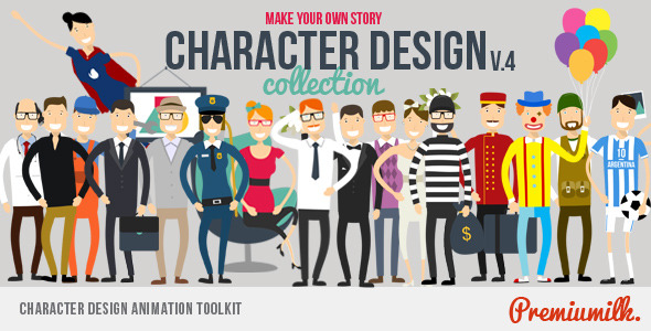 Cartoon Character Design Templates : After effects cartoon characters templates weelii