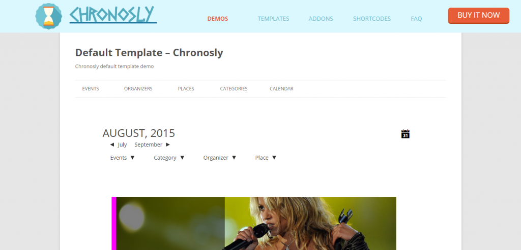 Chronosly Event Calendar WordPress Plugin