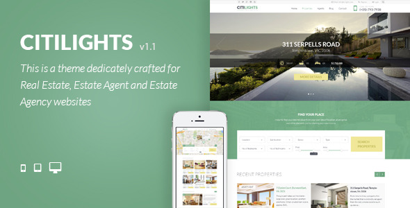 CitiLights Real Estate PSD Template