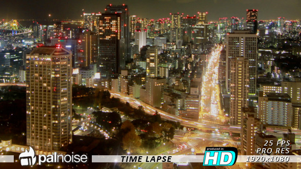 City Night View, Tokyo Time Lapse 1