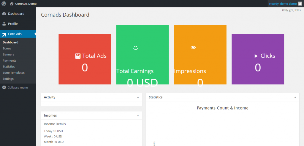 CornADS 1.5.2 Multipurpose Smart Advertising WordPress Plugin