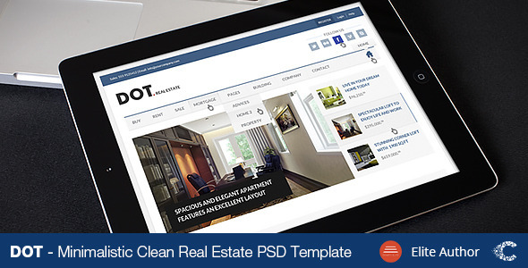 DOT. Real Estate PSD Template