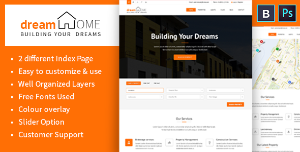 Dream Home Real Estate PSD Template