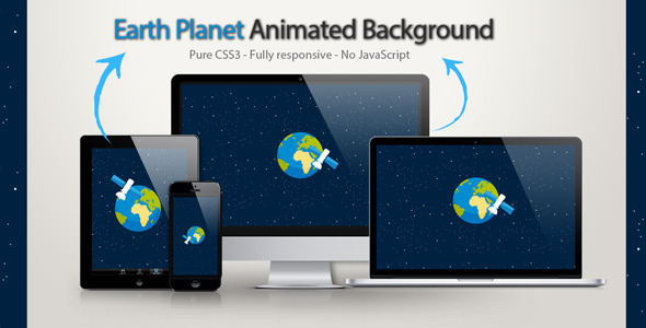 Earth Planet Animated Background