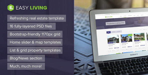 Easy Living Real Estate PSD Template