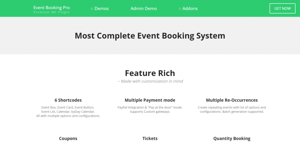 Event Booking Pro WP Plugin [paypal or offline]