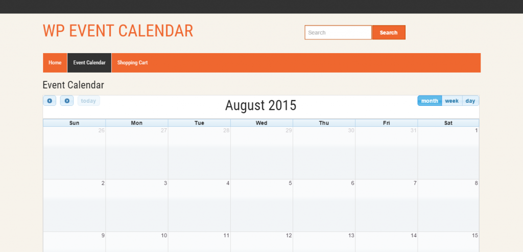 EventCommerce WP Responsive Event Calendar Pro