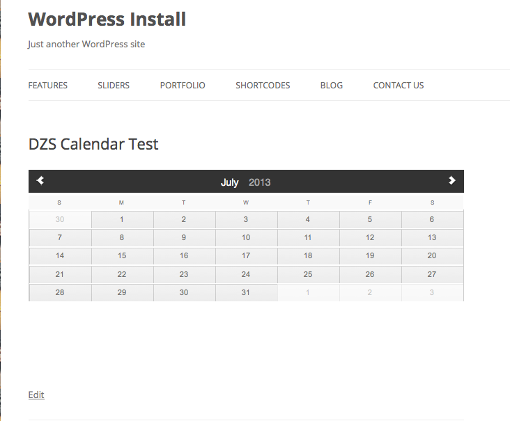 Events Calendar WordPress Plugin DZS