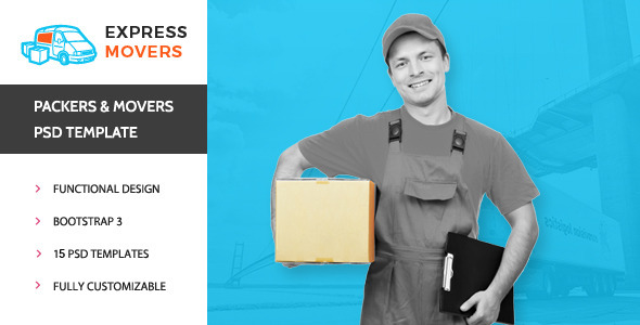 Express Movers Moving Company PSD Template