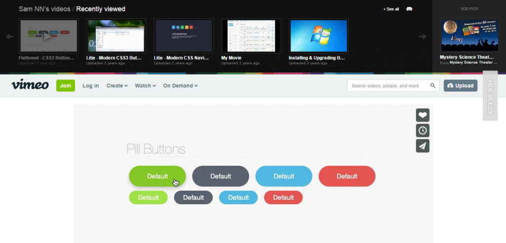Flattened Unique CSS3 Button Pack
