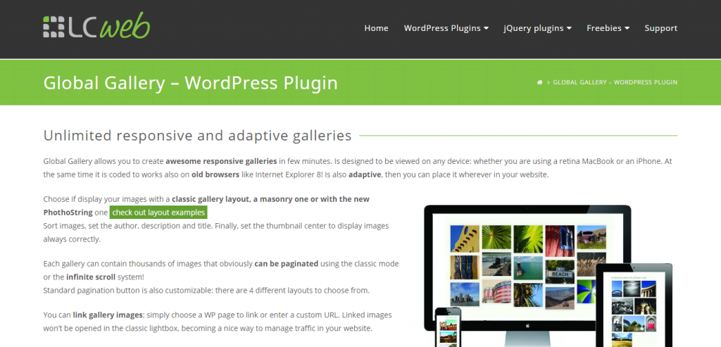 Global Gallery  WordPress Responsive Gallery