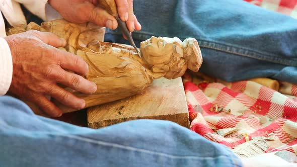 Hand Of Carver Carving Wood 9