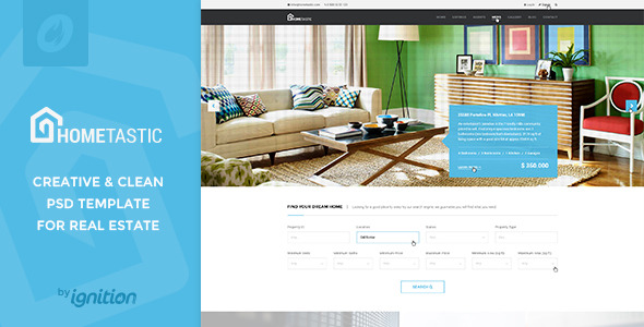 Hometastic Real Estate PSD Template
