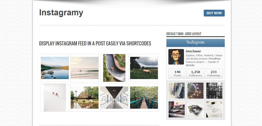 Instagramy WordPress Plugin
