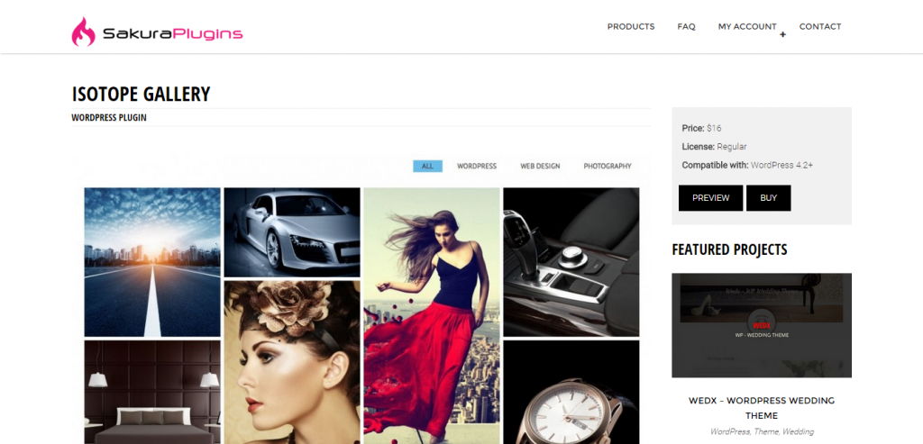 Isotope Gallery WordPress Plugin