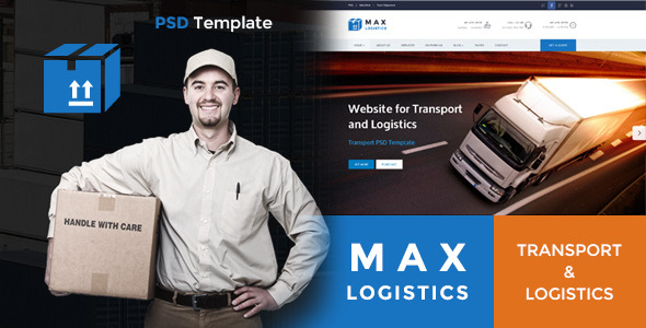 Max Logistics Transport & Logistics PSD Template