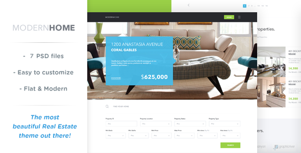Modern Home Real Estate Multi-Purpose Template