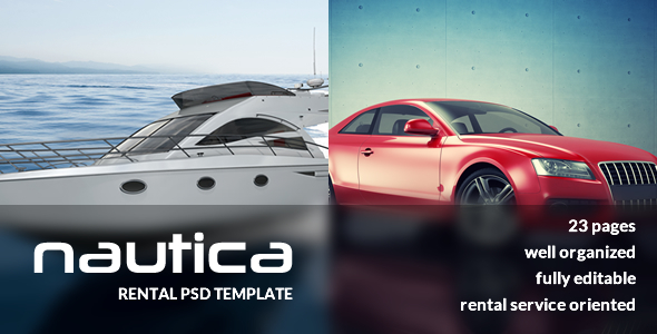 Nautica Rental Services PSD Template