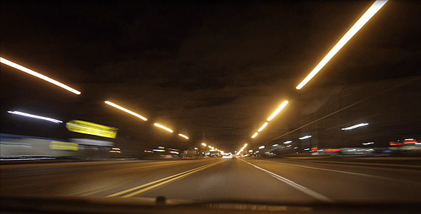 Night Car Time Lapse