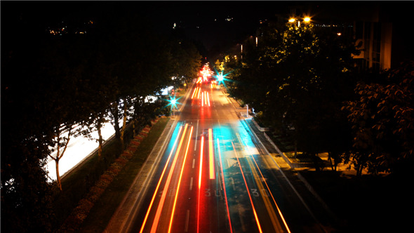 Night Traffic Time Lapse
